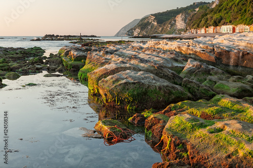 The passetto rocks at sunrise, Ancona, Italy Wallpaper Mural