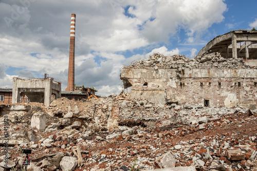 Foto op Aluminium Rudnes Ruins of Paper Mill - Kalety, Poland.