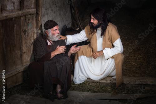 Fotografie, Obraz  Jesus healing the blind