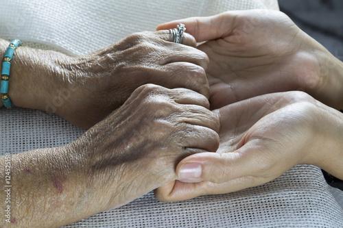 Fotografering  Holding Hands