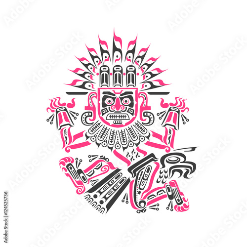 Aztec Mayan Tattoos Isolated Buy This Stock Vector And