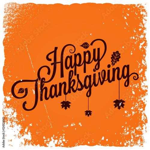 Spoed Fotobehang Halloween Thanksgiving vintage card background