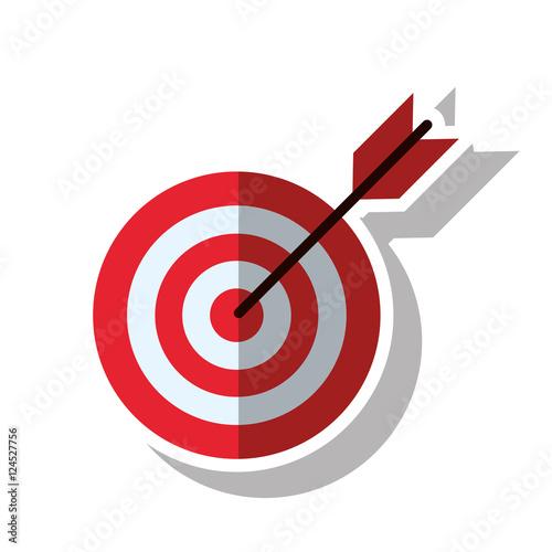 Fotografía  Target with arrow icon