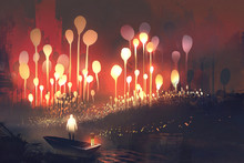 Night Scenery Of Fantasy Fores...