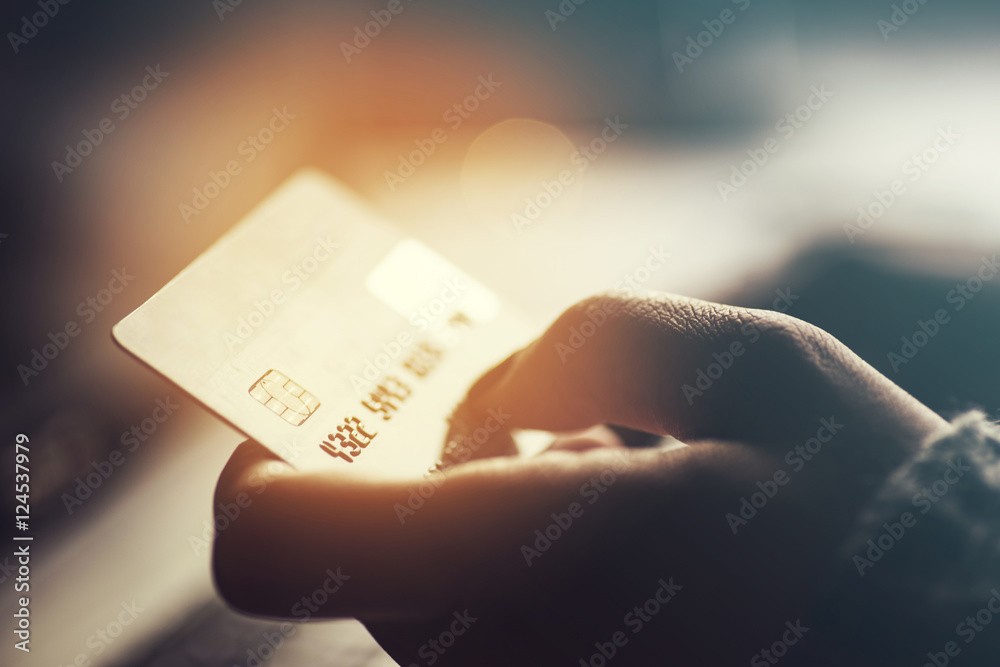 Fototapeta Online shopping and paying concept