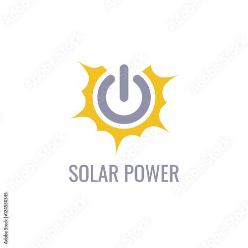 Eco energy vector logo template  Solar energy icon  - Buy