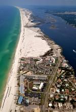 Aerial Image Of Okaloosa Island In Fort Walton Beach, Florida.
