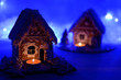 Leinwanddruck Bild - Christmas gingerbread house