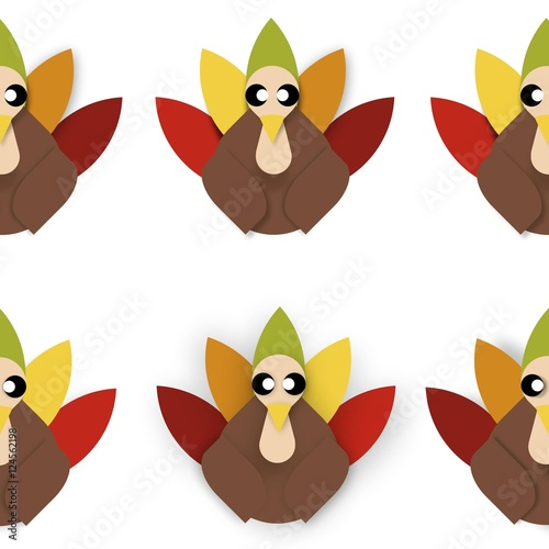 Valokuva  Tiled Turkey Vector