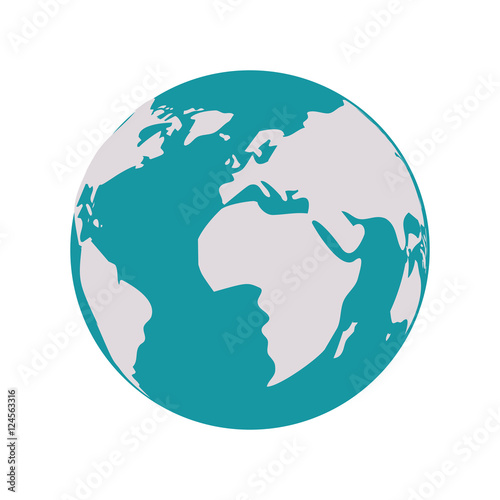 Earth world map with continents vector illustration buy this stock earth world map with continents vector illustration gumiabroncs Images