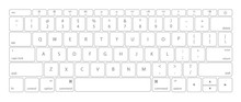 Computer Keyboard Button Layout Template With Letters.