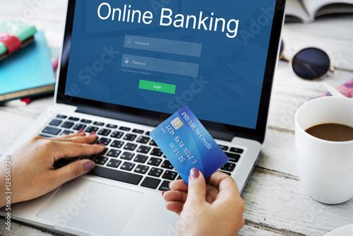 Fotografía  Online Payment Internet Banking  Concept