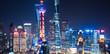 Leinwanddruck Bild - Shanghai Skyline at Night in China.