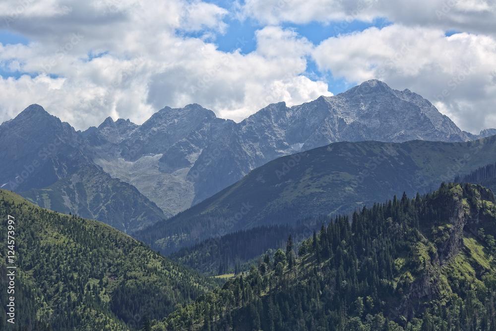 View from Rusinowa glade on the Tatras