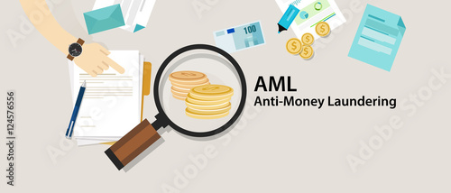 AML anti money laundering cash coin transaction company Canvas Print