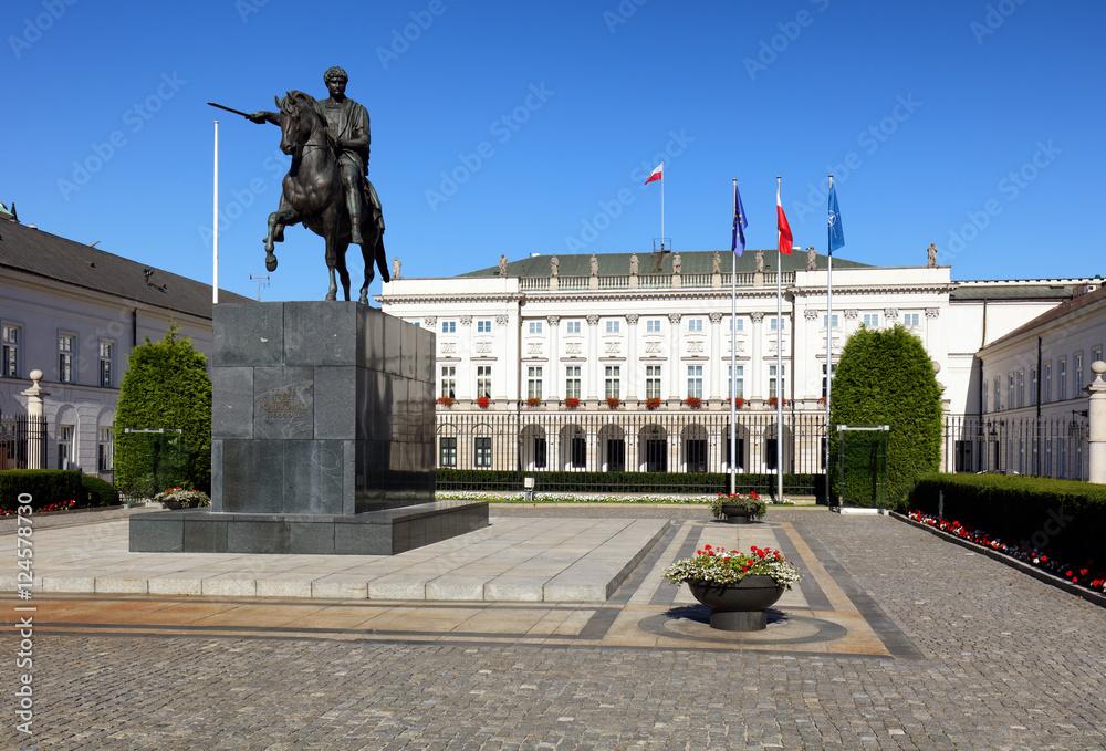 Fototapety, obrazy: Pałac Prezydencki na Krakowskim Przedmieściu
