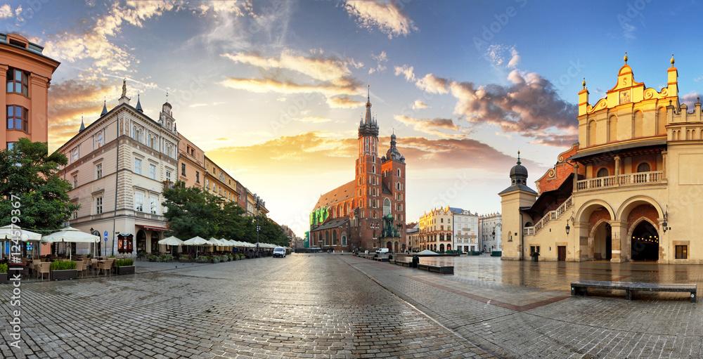 Fototapety, obrazy: Rynek w Krakowie, Polska