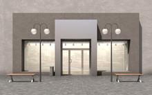 Facade Store; 3d Illustration