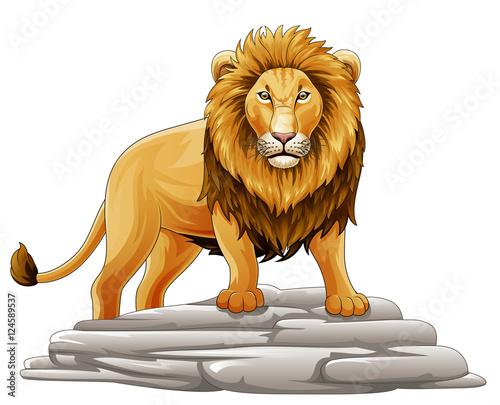 Wall Murals Fairytale World Cartoon lion mascot