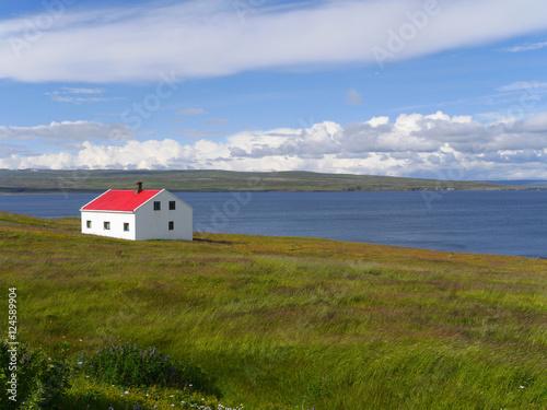 Foto op Aluminium Scandinavië Kðstenlandschaft im Nordosten von Island
