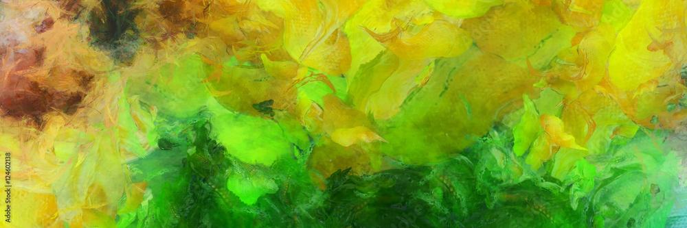 Kolorowe abstrakcyjne malarstwo <span>plik: #124602138 | autor: rolffimages</span>