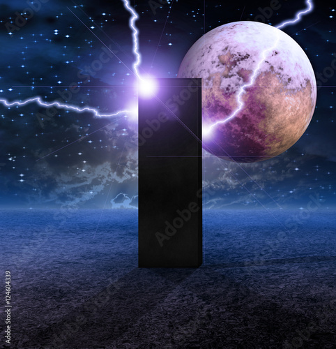 Fotografia  Monolith on Lifeless Planet