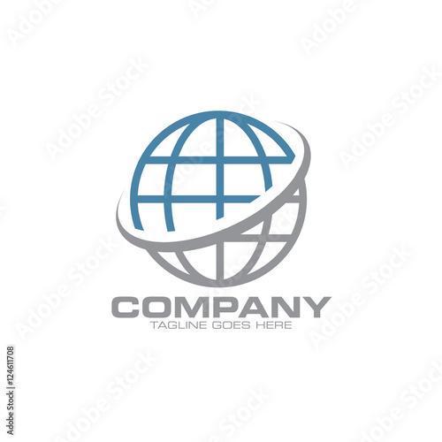 Obraz circle globe logo icon - fototapety do salonu