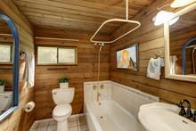 Bathroom Interior In A Luxurio...