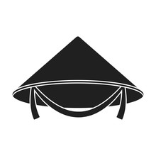 Conical Hat Icon In Black Styl...