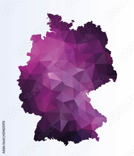 Obraz na plátně Polygonal map of Germany