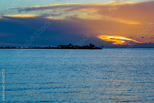 Canvas Prints Inspirational message Sea sunset quietly
