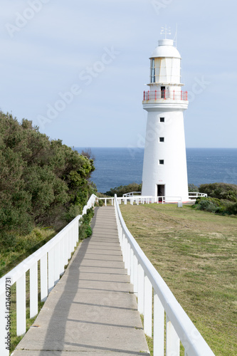 Foto op Aluminium Vuurtoren Lighthouse at Cape Otway by the Great Ocean Road