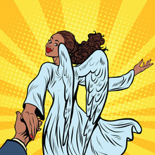 Follow Me, Beautiful Angel Girl, African American People