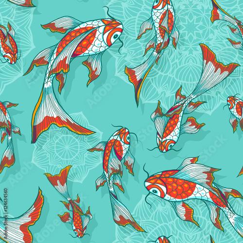 bezszwowe-wektor-jasnoniebieskie-tlo-z-recznie-rysowane-ryby-koi-wzor-na-tekstylia-lub-papier-pakowy