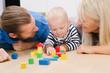 canvas print picture - Familie beim Spielen