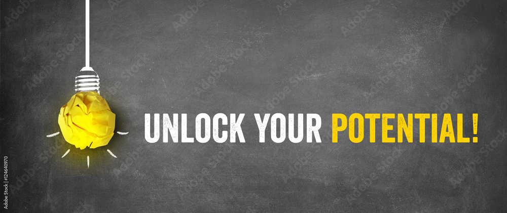 Fototapeta unlock your potential