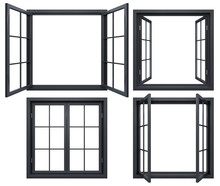 Collection Of Black Window Fra...