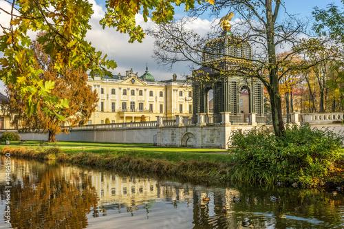 Obraz Ogród w Pałacu Branickich jesienią - fototapety do salonu