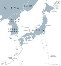 Korean Peninsula And Japan Cou...