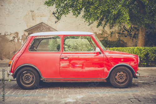 Plakat  Vintage small car