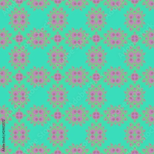 Fotografie, Obraz  Soft pastel sweet art deco budoir cyan and pink design background
