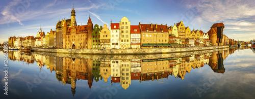 Foto auf AluDibond Stadt am Wasser Cityscape of Gdansk in Poland,Panorama