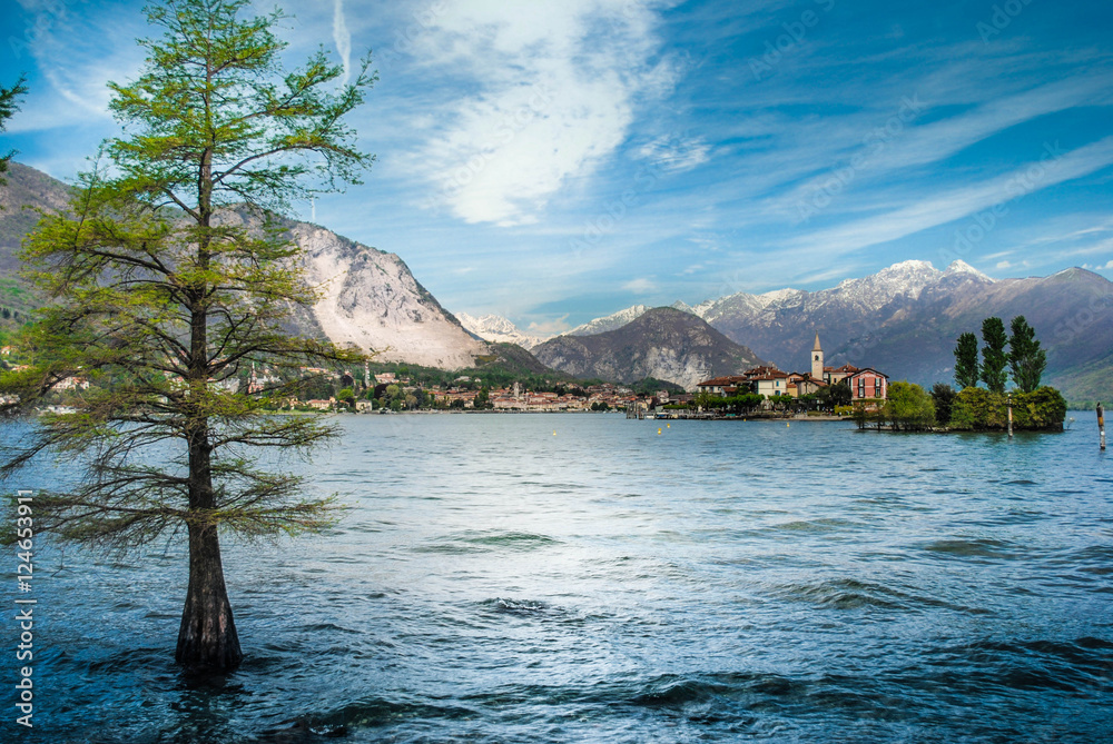Fotografie, Obraz  Lago Maggiore mit Gebirgspanorama