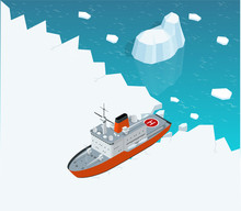 Isometric Nuclear-powered Iceb...
