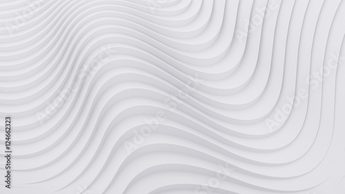 Fotobehang Fractal waves Wave band abstract background surface 3d rendering