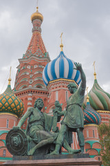 Fototapeta na wymiar St. Basil cathedral on Red Square in Moscow, Russia