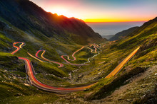 Traffic Trails On Transfagaras...