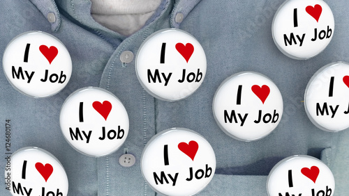 I Love My Job Buttons Pins Working Career Pins 3d