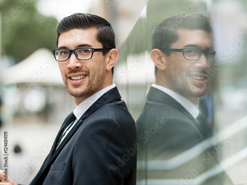 Fototapety, obrazy: Portrait of handsome businessman outdoor