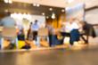 Blurred people in café